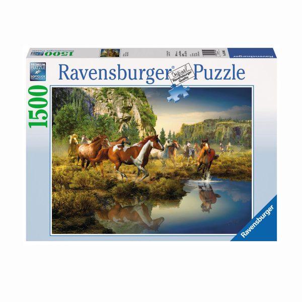 puzzle o dzikich koniach ravensburegr