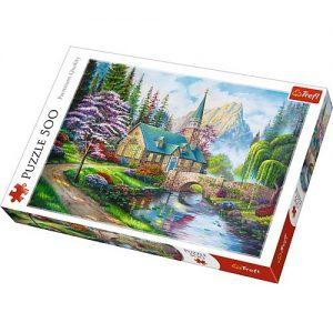 Puzzle ze zdjęciem leśnego zacisza