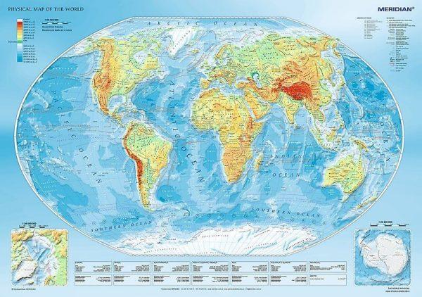 Trefl. Mapa fizyczna świata
