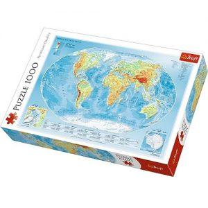 fizyczna mapa świata - puzzle