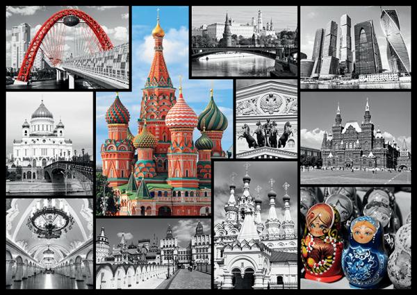 kolaż zdjęć z Moskwy