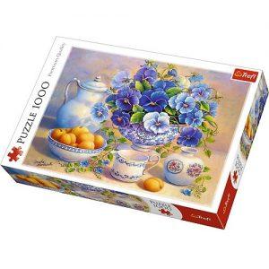 puzzle z pięknym bukietem kwiatów
