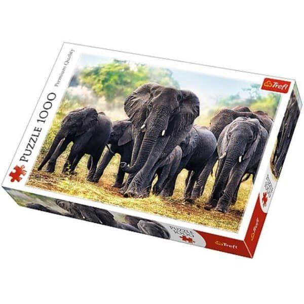 puzzle ze słoniami