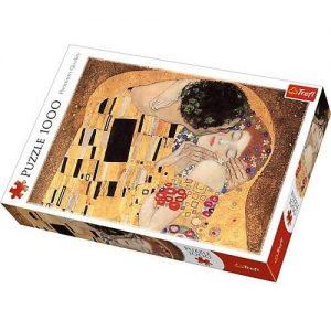 """Puzzle z obrazem """"Pocałunek"""" Klimta"""