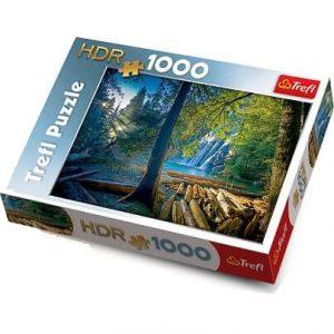 puzzle ze zdjęciem lasu
